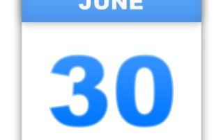 Calendar June 30th date