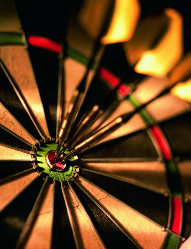 target on dart board